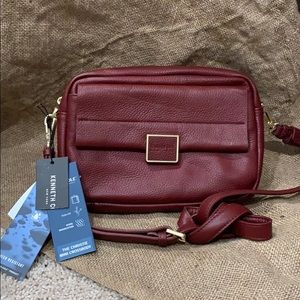 Brand new Kenneth Cole leather maroon bag with tag